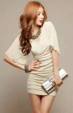 282a9af2435 2016 New Women Summer Dress Deep V-Neck Cross Sexy Dress Chiffon Short  Sleeve Pleated Bodycon Dress For Evening Party Free Size