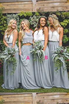95974e804d6 Hot Sale Absorbing Two Pieces Bridesmaid Dress