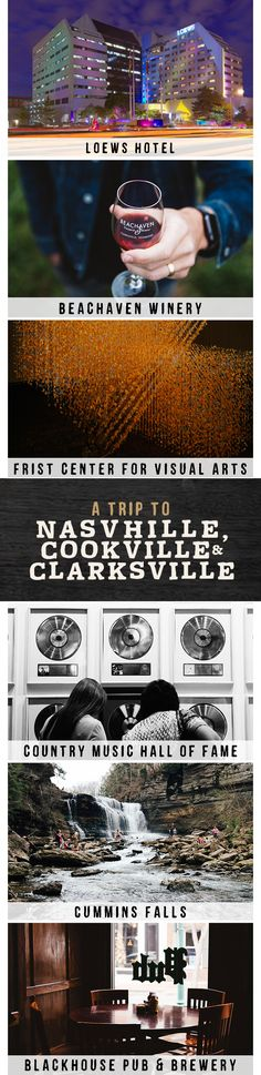 Look through photographer Paul Tellefsen's adventure log to see the very best places to eat and visit as you plan your own trip to Nashville, Clarksville, and Cookeville.