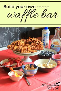 The other day I had some friends over for lunch and a play date. I thought it would be fun to host a simple waffle bar, since well, waffles are delicious. This was so easy to put together! I made the waffles before people arrived, and had everything else set up. You can pick whatever …