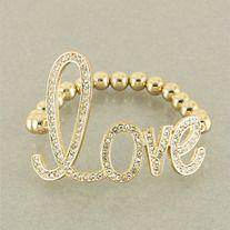 Gold Love Big Bracelet