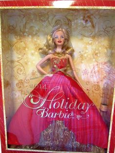 Holiday Barbie 2014 Collector Series With Stand Blonde #Mattel #DollswithClothingAccessories