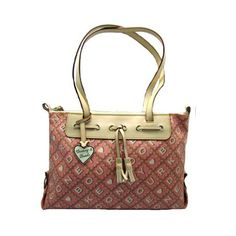 Amazon.com: Dooney Bourke Crossword Large Zip Top Tassel Bag Purse Light Pink: Clothing