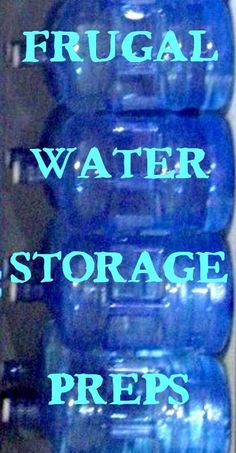 Do you have water stored for emergencies? #Preppers