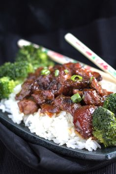 Slow Cooker Honey Soy Glazed Chicken - Erren's Kitchen - Delicious, tender chicken in  a sweet and sticky soy glaze.