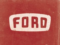 Vintage Trucks Muscle Lovely re-purposing of old Ford logo on hood of vintage truck. - Ford lettering inspired by the hood emblem on a 1954 Ford Mainline. a pretty sweet ride. Type Logo, Ford Girl, Branding Design, Logo Design, Classic Chevy Trucks, Vintage Trends, Vintage Graphic Design, Vintage Labels, Vintage Logos
