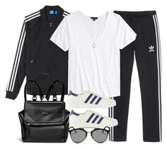 """Style #10133"" by vany-alvarado ❤ liked on Polyvore featuring adidas Originals, adidas, Topshop, Givenchy, FOSSIL and Christian Dior"