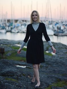 Ibex - Wrap Dress - Merino Wool - Winter - A PIECE OF ELISE  PACIFIC STYLE BLOG