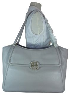 cd1eb057c3a3 Tory Burch Mercury Leather Large Easy Gray Tote Bag. Get one of the hottest  styles