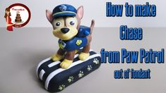 How to make Chase from Paw Patrol cake topper tutorial