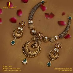 Necklaces Simple Expressing Your Love For Floral Designs. Get In Touch With us on 919904443030 Gold Mangalsutra Designs, Gold Earrings Designs, Gold Jewellery Design, Necklace Designs, Gold Jewelry, Craft Jewelry, India Jewelry, Jewelry Designer, Glass Jewelry