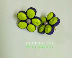 Quilled studs in floral pattern