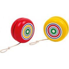8-er Set (4 rote und 4 gelbe Jojos). Aus bunt lackiertem Holz gearbeitet, faszinieren diese Bewegungsspielzeuge Kinderhände! Schult die Motorik und steigert die Begeisterung an den eigenen Fähigkeiten.