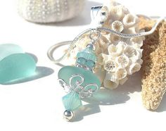 Sea Glass Jewelry ~ Aqua Blue Sea Glass Necklace by Sea Glass Jewelry By Tears Of The Sea, via Flickr