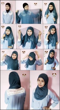 Kiki Tutorial. Hijab Simple Tosca. pandoraque.blogspot.com