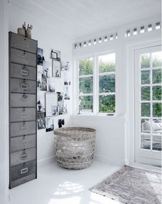 Storage and inspiration nook! In Tine K's Home | NordicDesign