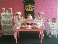 Decoração Princesa Coroa Dourado II
