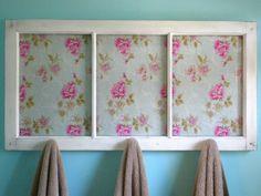 Repurposed Crafts | An old window pane turned into a towel rack. An easy DIY repurposing ...