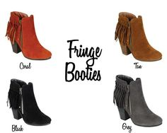 Fringe Booties - 4 Colors!   - Photo 8