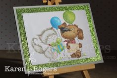 kareN stampZ : Copic colouring of Polkadoodles digi stamp Horace & Boo Party Friends. All colours used are listed on the blog post :)