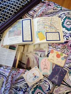 Scrapbook and notecards for wall mural inspiration