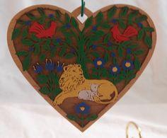 1988 Hallmark Hall Family Ornament - Lion & Lamb | vintage hallmark collectibles artwork home decor belleek lalique