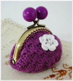 Monedero // Bolso de ganchillo Bag // Crochet coin purse