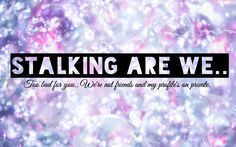 Stalking are we? Cover photo for Facebook. For people with a private profile. ☺️