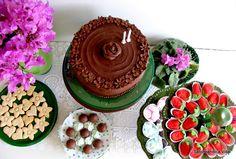saboreando a vida: Repeteco do bolo de Chocolate e Morangos e uma receita de Shimeji.