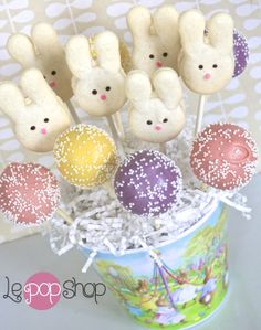 Bean Bunny, Le Pop, Macaroons, Cake Pops, Spring Time, Vanilla, Bouquet, Easter, Party