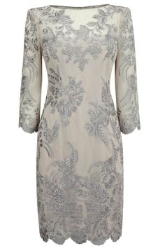 Lace dress embroidered
