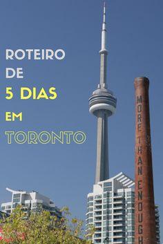 Roteiro de 5 dias em Toronto incluindo CN Tower, Ripley's Aquarium of Canada, Casa Loma, AGO, Toronto Island e muito mais.