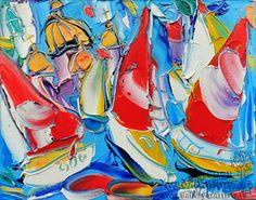 Petersburg boats by Sergey Kotinov_Котинов Сергей. Петербургские кораблики