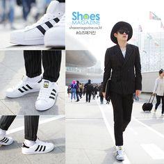 이준 19 고등학생  아디다스 슈퍼스타 흰/검  2015 F/W 서울 패션위크를 찾아가다.   Seoul fashion week 2015 F/W  shoesmagazine.co.kr #shoes #shoesmagazine #fashion #seoul #korea