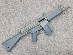 SBR A modified version of the standard it is a Winchester chambered U.S clone of the German HK Military Weapons, Weapons Guns, 308 Winchester, Gun Vault, M4 Carbine, Battle Rifle, Survival Life Hacks, Long Rifle, Mp5