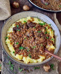 easy lentil stew mashed potatoes vegan healthy gluten-free