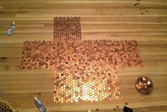 She Made An Amazing Floor Out Of Old Pennies. This Is How She Did It.