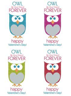 Valentine's Day OWL Printable