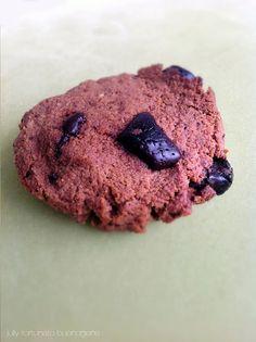 Cookie de coco, banana e chocolate