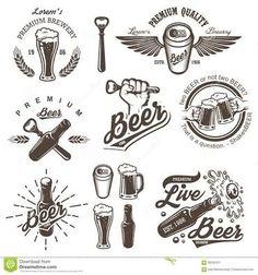 Resultado de imagem para vintage beer logo