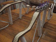 Almost Unschoolers: Summer Fun Day 58 - Cardboard Roller Coaster Craft