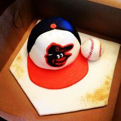 Baltimore Orioles Baseball Hat Cake