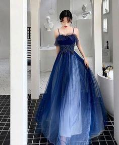 Grey Evening Dresses, Prom Dresses Blue, Dresses For Teens, Ball Dresses, Elegant Dresses, Pretty Dresses, Dress Prom, Sexy Dresses, Summer Dresses