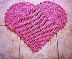 tapetes de barbante de desenho de coração