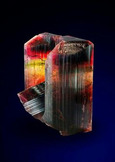 Liddicoatite from Estatoby mine, Madagascar. Liddicoatite is a rare member of the Tourmaline minerals, and belongs in the sub-group of Elbaite. copyright: © DI Anton Watzl
