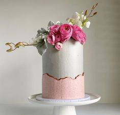 Vanilla bean cake with white chocolate and raspberry Swiss meringue buttercream . Swiss Meringue Buttercream, Buttercream Cake, Vanilla Bean Cakes, Drizzle Cake, Summer Cakes, Half Baked Harvest, Celebration Cakes, Themed Cakes, Cake Designs