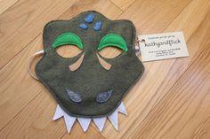 Tyrannosaurus Rex Felt Dinosaur Mask for Kids Paper Dinosaur, Dinosaur Mask, Dinosaur Party, Dinosaur Birthday, Diy Dinosaur Costume, Craft It Yourself, T Rex Cake, Felt Mask, Tyrannosaurus