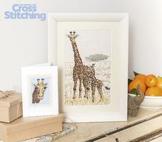 Safari stitching! Capture the atmosphere of the savannah with these portrait projects of beautiful giraffes in cross stitch. Only in our new issue 231 of The World of Cross Stitching magazine