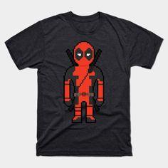 8-bit Deadpool - Mens T-Shirt