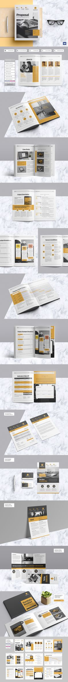Proposal Creative, Colors and Texts - interior design proposal template